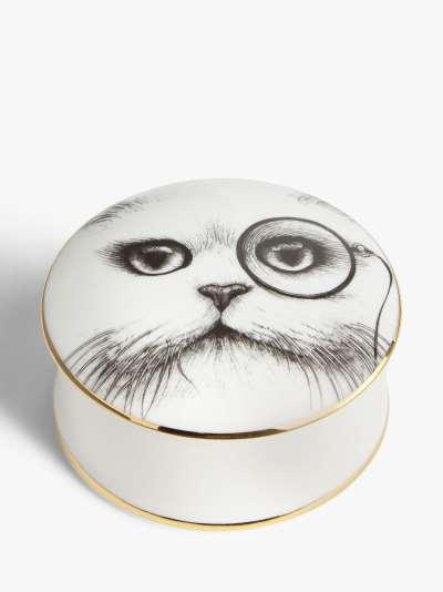 Rory Dobner Cat Monocle Trinket Box, Medium