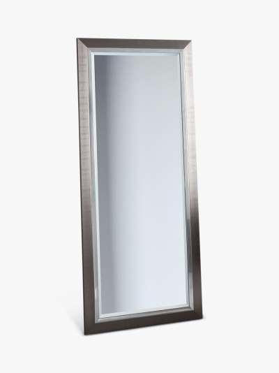 Rylston Rectangular Frame Leaner Mirror, 155 x 66cm, Silver