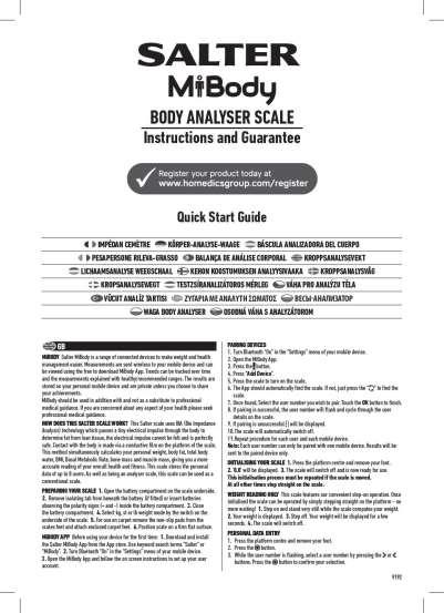 Salter Ito Bluetooth Analyser Pro Bathroom Scale