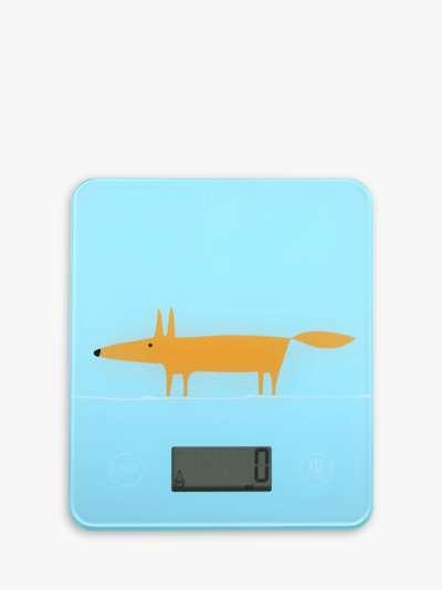 Scion Mr Fox Electronic Digital Kitchen Scale, 5kg, Light Blue