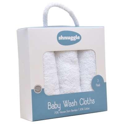 Shnuggle Wash Cloth Set, White