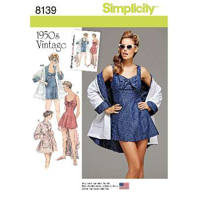 Simplicity Women's Vintage Apron and Oven Gloves Sewing Pattern, 6206