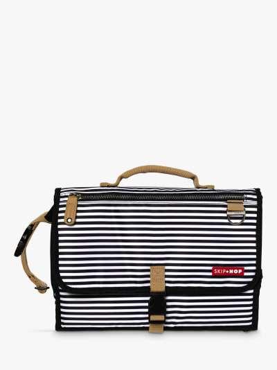 Skip Hop Pronto Striped Changing Station Bag, Black/White