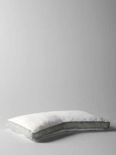 John Lewis & Partners Specialist Synthetic Crescent Memory Foam Support Pillow, Soft/Medium