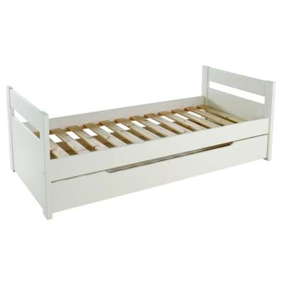Stompa Originals Guest Bed Frame and Trundle, Extra Long Single, White