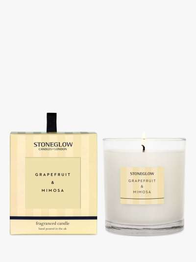 Stoneglow Modern Classic Grapefruit & Mimosa Scented Candle, 220g