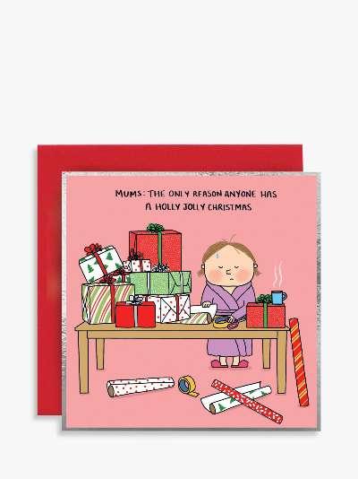 Susan O'Hanlon Holly Jolly Mum Christmas Card
