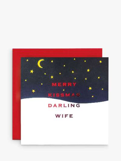 Susan O'Hanlon Merry Kissmas Wife Christmas Card