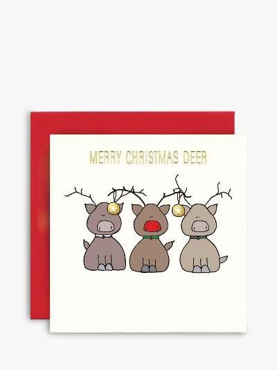 Susan O'Hanlon Reindeer Christmas Card