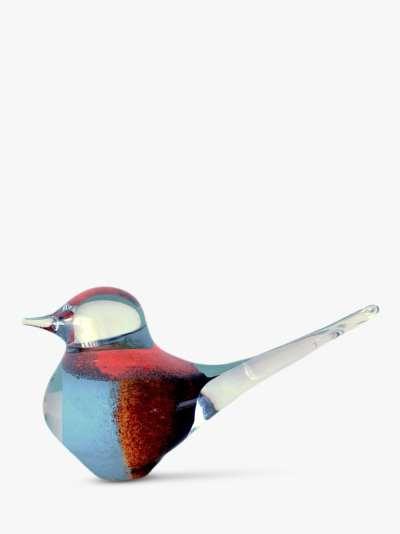 Svaja Big Basil Bird Ornament, Brown/Teal