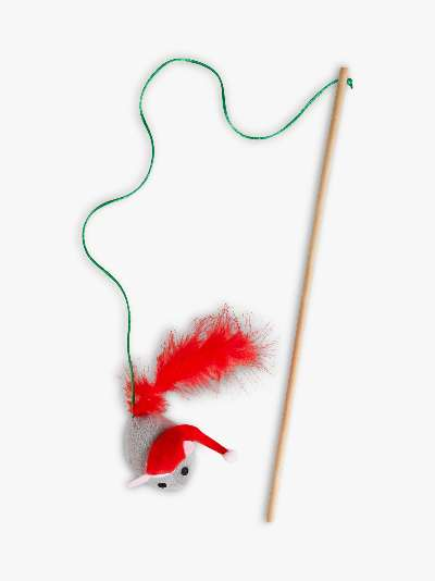 Talking Tables Botanical Mouse Christmas Cat Toy