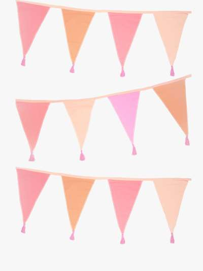 Talking Tables Rose Gold Fabric Bunting, 3m