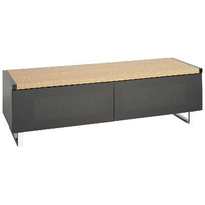Techlink Panorama PM120 TV Stand for TVs up to 60, Black, with Reversible Top