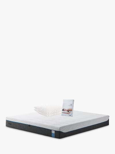 TEMPUR® Hybrid Elite Pocket Spring Memory Foam Mattress, Medium Tension, Double, with Water Resistant Mattress Protector and Standard Support Pillow