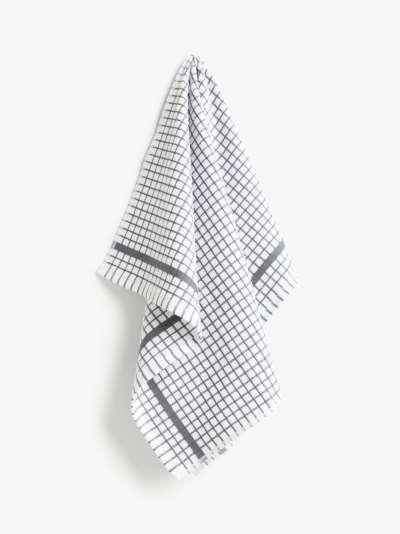 John Lewis & Partners Terry Check Cotton Tea Towel