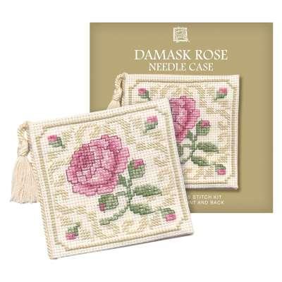Textile Heritage Damask Rose Coaster Counted Cross Stitch Kit, Multi