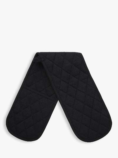 ANYDAY John Lewis & Partners Double Oven Glove, Black