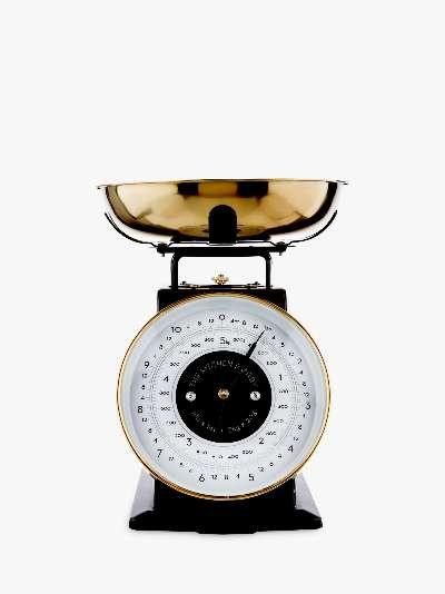 The Kitchen Pantry Mechanical Kitchen Scale, Black / Brass