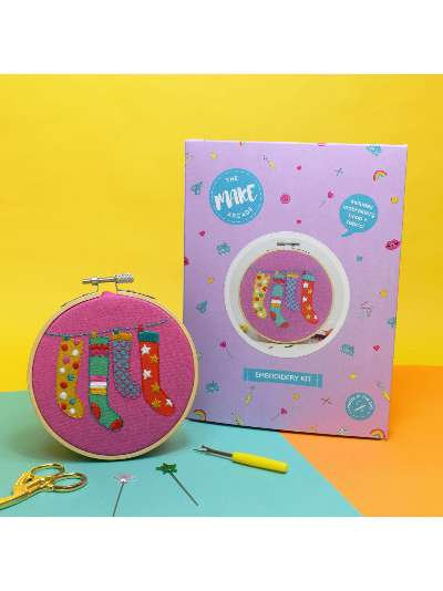 The Make Arcade Christmas Stockings Embroidery Kit