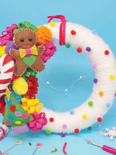 The Make Arcade Felt Christmas Wreath Craft Kit