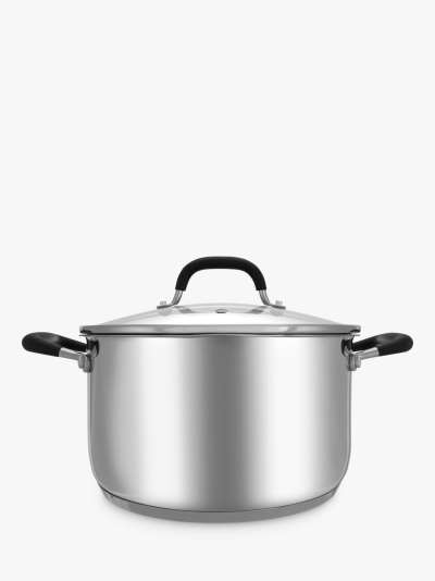 John Lewis & Partners 'The Pan' Stainless Steel Non-Stick Frying Pan, 32cm