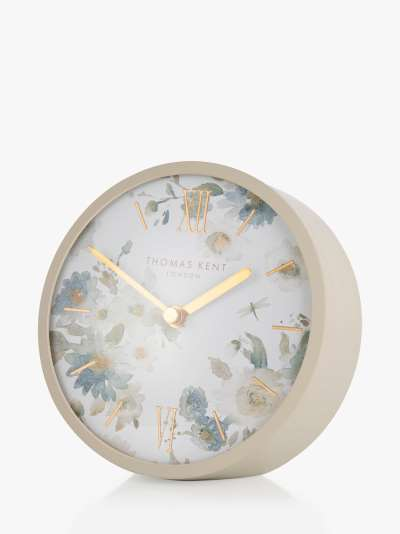 Thomas Kent Mini Crofter Flower Analogue Mantel Clock, Oatmeal