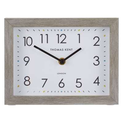 Thomas Kent Smithfield Rectangular Wood Finish Mantel Clock, 21cm