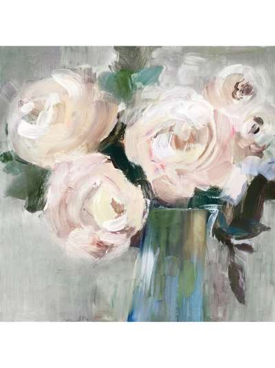 Valeria Mravyan - Bouquet II Canvas Print, 60 x 60cm, Pale Pink