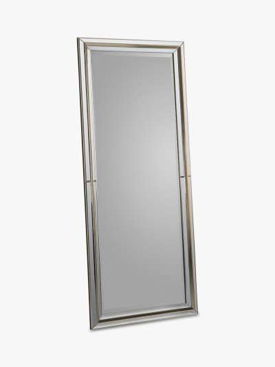 Vogue Rectangular Frame Leaner Mirror, 151.5 x 62.5cm, Gold
