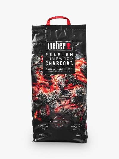 Weber Premium FSC-Certified Lump Wood BBQ Charcoal, 5kg