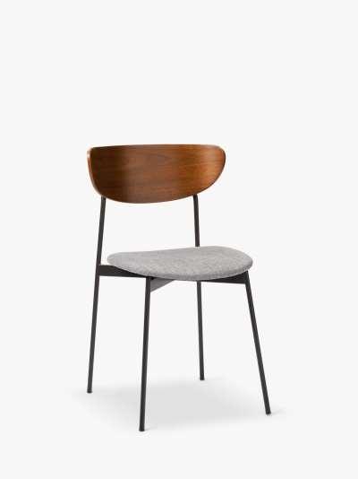 west elm Modern Petal Dining Chair, Platinum