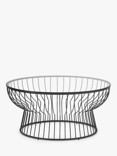 west elm Pillar Glass Coffee Table, Clear/Bronze
