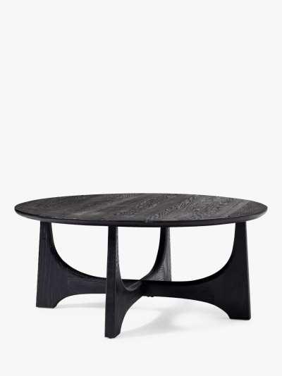west elm Tanner Hemlock Wood Coffee Table, Black