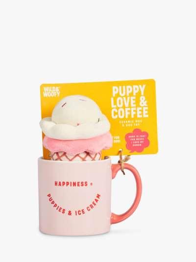Wild & Woofy Ice Cream Mug & Dog Toy Set
