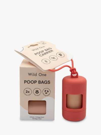Wild One Dog Poop Bag Carrier & Refills