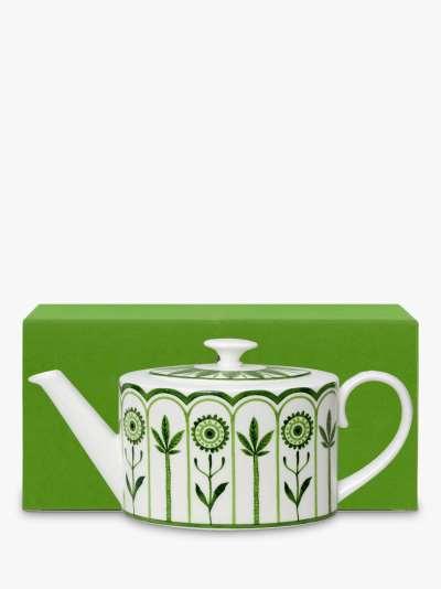 William Edwards Sultan's Garden Gift-Boxed Teapot, 550ml, Green/White