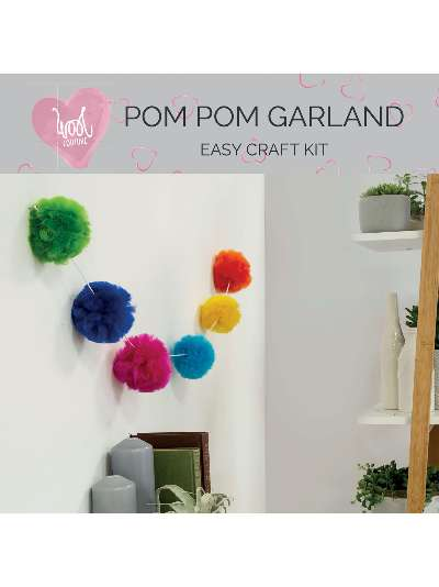 Wool Couture Bright Pompom Garland Craft Kit