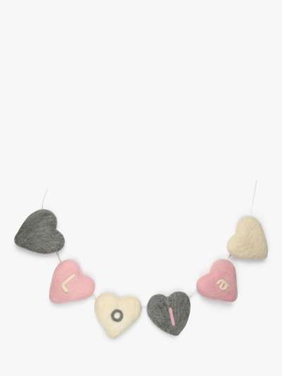 Wool Couture Heart Bunting Needle Felting Craft Kit