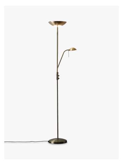 John Lewis & Partners Zella LED Uplighter and Reading Floor Lamp