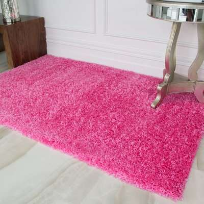 Barbie Pink Shaggy Rug   Vancouver