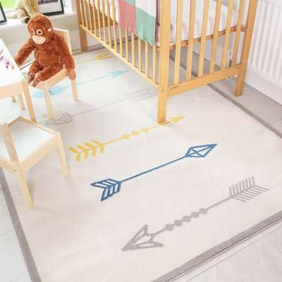 Fun Native Arrows Soft Kids Bedroom Rugs | Nino