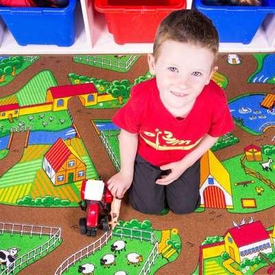 Play Farm Fun Farmer Kids Rug