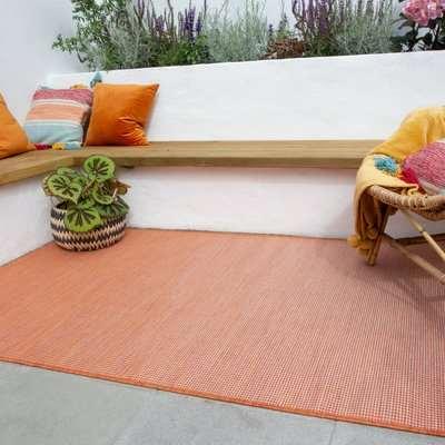 Terracotta Mottled Indoor | Outdoor Runner Rug | Patio