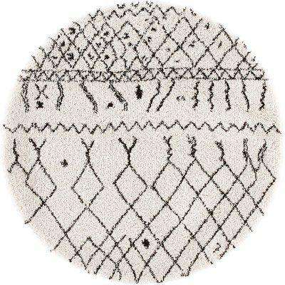 Afaw Berber Style Round Rug