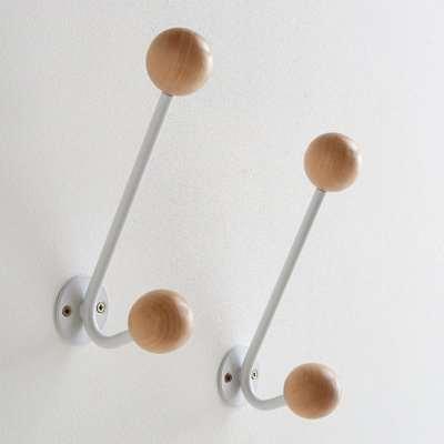 Set of 2 Agama Wall Double Coat Hooks