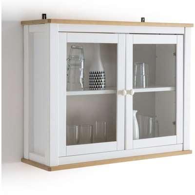 Alvina Solid Pine Display Cabinet