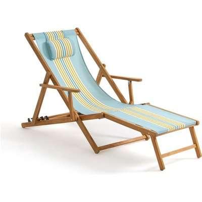 Amezza Acacia & Canvas Lounge Chair