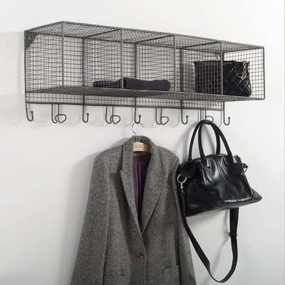 Areglo Wall Storage Coat Rack with 9 Hooks