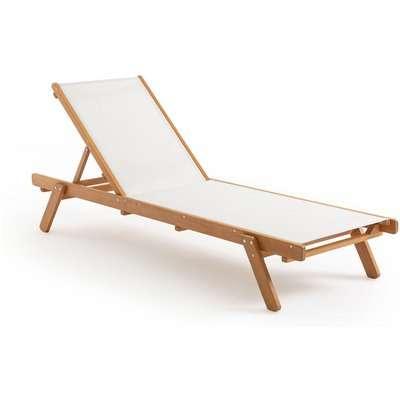 Aurette Eucalyptus & Fabric Sun Lounger (FSC)