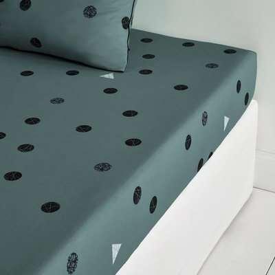 Bellvik Geometric Cotton Percale Duvet Cover